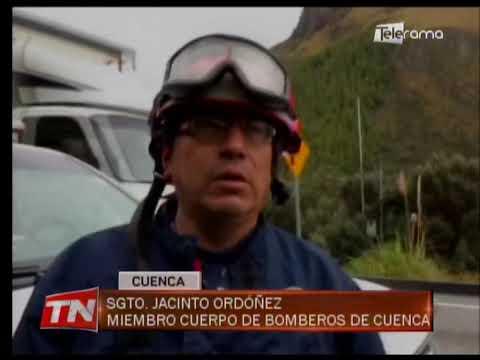 6 heridos en accidente de tránsito en la vía Cuenca - Molleturo