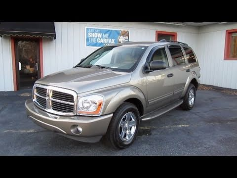 durango - In this video I give a full in depth tour of the 2005 Dodge Durango Limited. I take viewers on a close look through the interior and exterior of this suv whi...