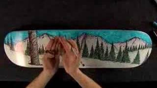 Mark Rivard skateboard art