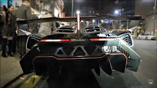 The craziest car I have ever seen on the road, this Lamborghini Veneno is the prototype car and therefore 1 of 1, with a further 3 customer cars produced. Th...
