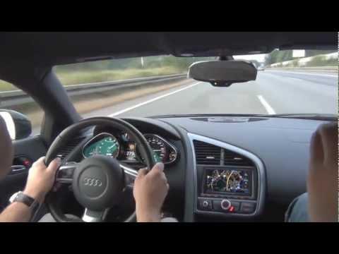 audi r8 a 335 km/h sull'autostrada tedesca!