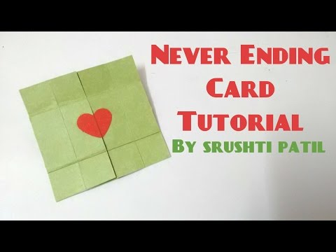 Never Ending Card/Endless Card Tutorial by Srushti Patil (видео)