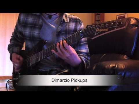 Ibanez S7420 – Stock Pickups vs Dimarzio Pickups