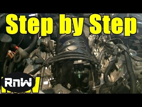 Chevy 3.8L Upper + Lower Intake Manifold Gasket and Tensioner Replacement Part 1