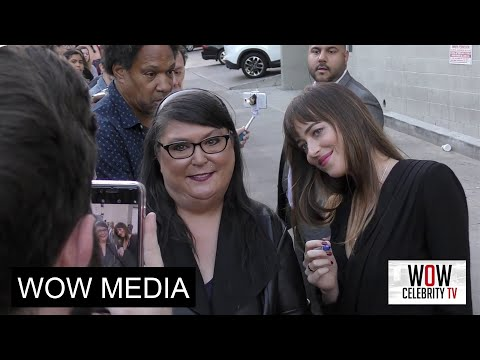 Dakota Johnson spotted at Jimmy Kimmel Live in Hollywood