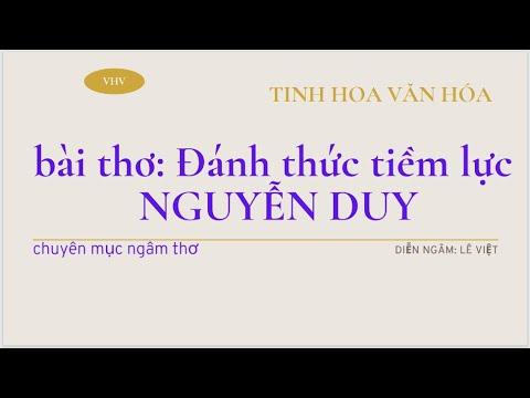 Bài thơ Đang thức tiềm lực của Nguyễn Duy