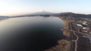 空撮 / 河口湖 富士山
