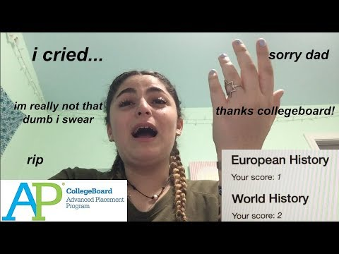 reacting to failing all my AP exams (crying)