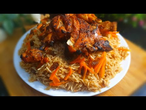 Ruz Bukhari Rice With Tandoori Chicken Recipe ❤️ | Famous Middle Eastern Cuisine! 😊