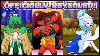 OFFICIAL SUN MOON FINAL STARTER EVOLUTIONS REVEALED! ISLAND GUARDIANS, BATTLE LEGENDARY TRAINERS! Re by Ace Trainer Liam
