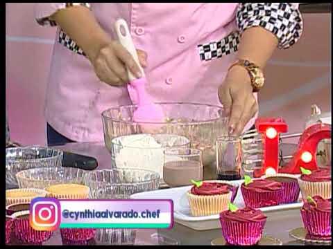 Aprenda a realizar cupcakes para San Valentín