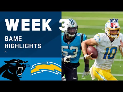 Panthers vs. Chargers Week 3 Highlights | NFL 2020