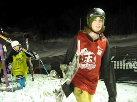 SnowboardSecretsTV - Killington, VT hosted Rails to Riches annual rail jam on December 11, 2010. Over 100 snowboarders and skiers entered. In Part 1 we watch the action on the ha...
