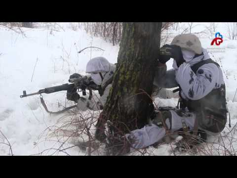 Снайперы на Рощинском полигоне (видео)