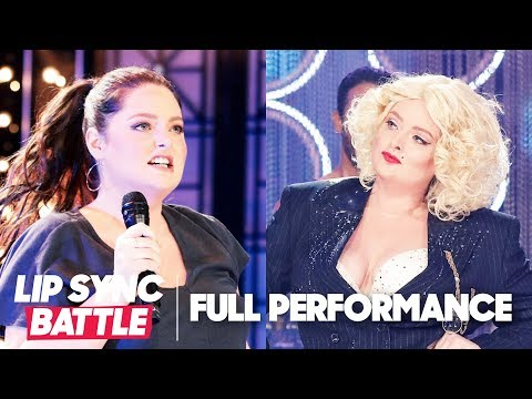 """Lauren Ash Performs Robyn's """"Call Your Girlfriend"""" & Madonna's """"Express Yourself""""   Lip Sync Battle"""