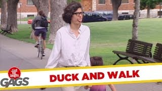 Just For Laughs Gag: Duck And Walk!