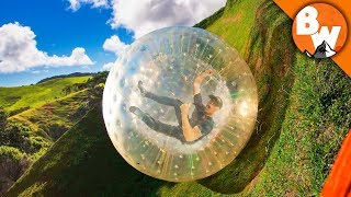 Rolling Off a Mountain in an Inflatable Ball! by Brave Wilderness