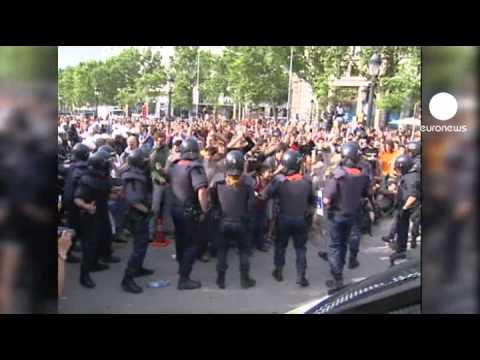 Ausschreitungen bei Protesten in Barcelona