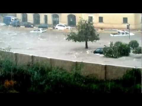 Havy rain in Msida, Malta, September 2012