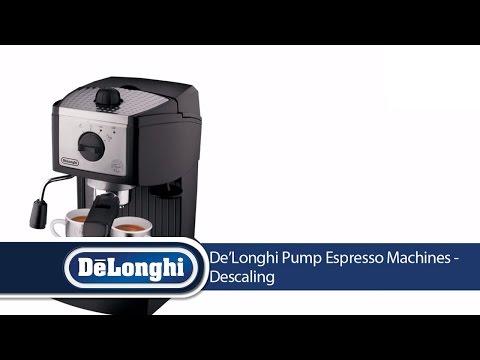 De'Longhi Pump Espresso Machines: Descaling