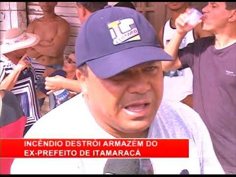 [RONDA GERAL] Incêndio destrói armazém do ex prefeito de Itamaracá