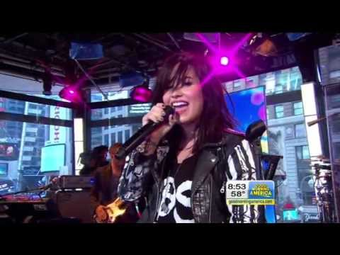 Demi Lovato Give Your Heart A Break Live!!  @ Gma Abc Ch 7