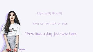 Video TWICE - Three Times A Day Lyrics (하루에 세번) Han Rom Eng Color Coded MP3, 3GP, MP4, WEBM, AVI, FLV Juli 2018