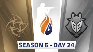 ECS S6 Day 24 - NiP vs G2 // Complexity vs Renegades, MIBR vs Rogue