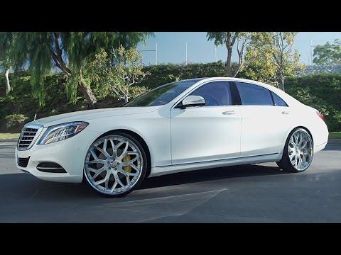 2016 White Mercedes-Benz S550 on 24'' LF-750 Lexani Wheels