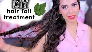DIY HAIR LOSS TREATMENT: How to STOP HAIR FALL, Grow Long Hair, Get rid of Dandruff Split Ends!! - YouTube