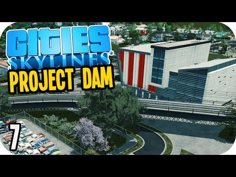 Cities Skylines: Project Dam - Cheeky Park Paths! #7