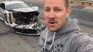 CRASHED Ferrari 458 Liberty walk accident Monterey car week 2016