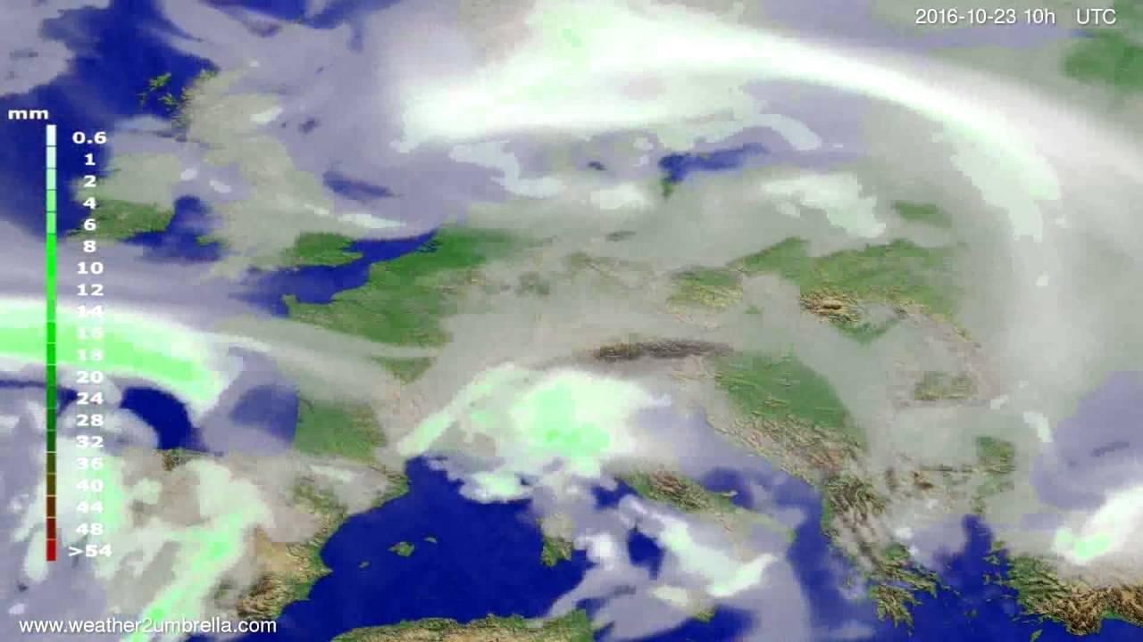 Precipitation forecast Europe 2016-10-21