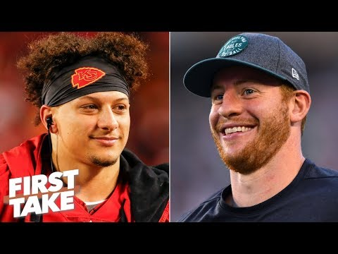 Video: Patrick Mahomes or Carson Wentz: Who will throw more TDs this season? | First Take