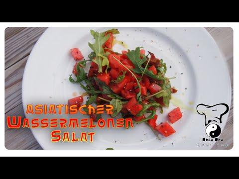 Asiatischer Wassermelonen Salat