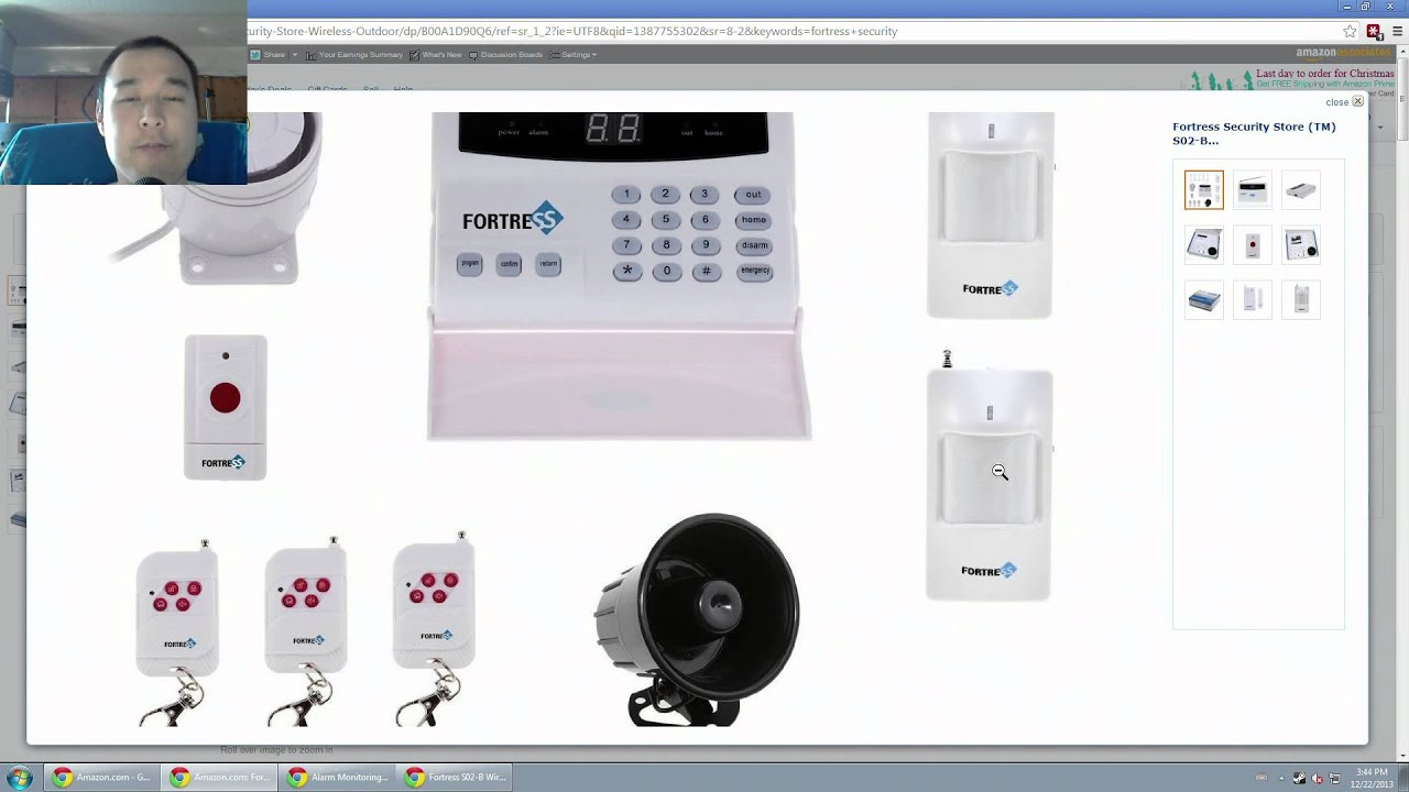 Fortress S02-B Wireless Home Security Alarm