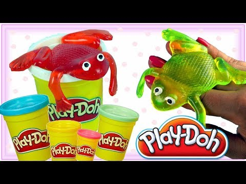 Play Doh & Żaba Slime • Gdzie są żabki? • kreatywne zabawki