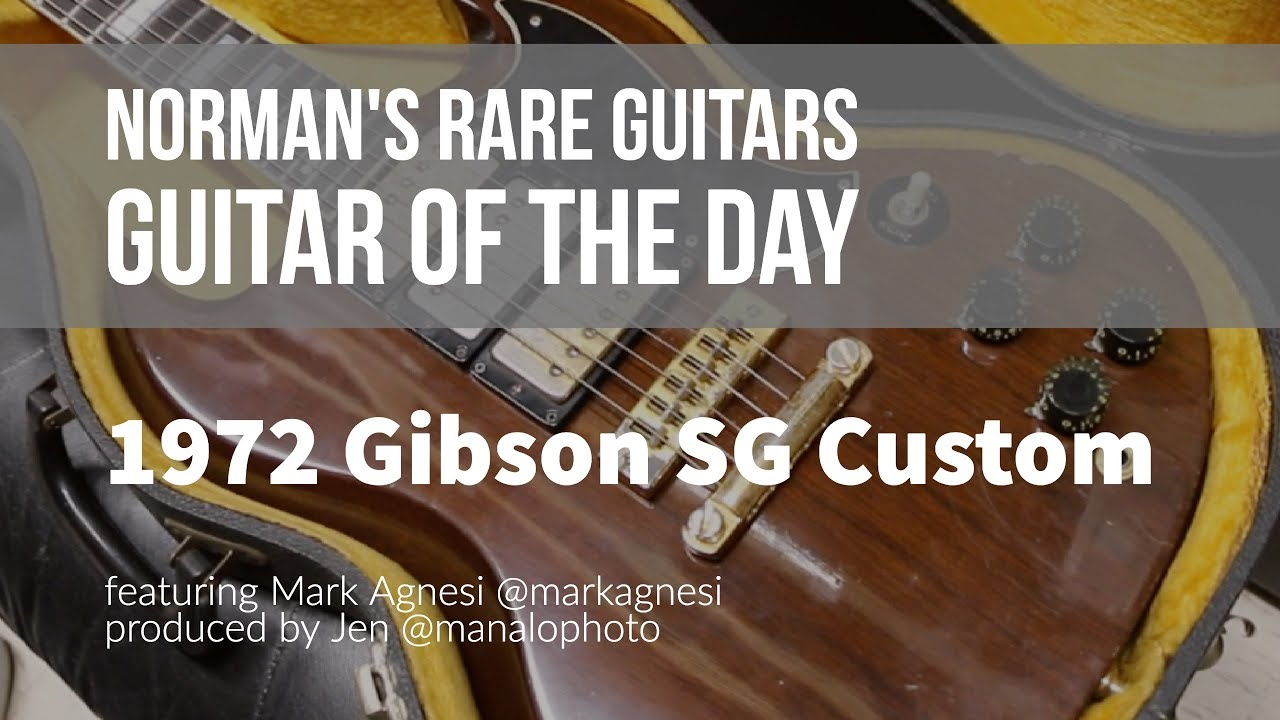 Norman's Rare Guitars – Guitar of the Day: 1972 Gibson SG Custom