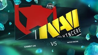 Gambit vs NaVi, game 1