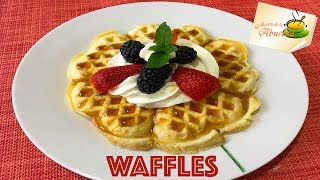 Te comparto la receta de waffles caseros, estan deliciosos!!Ingredientes:2 tazas de harina1 cucharadita de polvo para hornear2 tazas de crema dulce o acida2 cucharadas de vainilla3 huevos3/4 taza de azucar2 pizcas de salPam en spay para que no se peguenPara servir a tu gusto o con fruta, miel de maple y crema batidaSuscribete a mi canal, solo haz click aquí:  http://goo.gl/OPGDX8**********************************************************INSTAGRAM: https://goo.gl/TeMj5pMI PAGINA WEB: http://larecetadelaabuelita.netPINTEREST: http://pinterest.com/recetasabuelita/MI LIBRO:  http://goo.gl/OKzmFPMI BLOG: http://larecetadelaabuelita.blogspot.comTWITTER: http://twitter.com/#!/recetasabuelitaFACEBOOK:  http://goo.gl/10y0DRGOOGLE PLUS http://goo.gl/b26GvTMis aplicaciones:ITUNES:  http://goo.gl/N5gBDIANDROID: http://goo.gl/pwtTSuQuieres mandarme algo??Yessica Perez ApartadoPostal # 2 Huejotzingo Puebla 74160For those of you who speak english, check out my english channel: https://www.youtube.com/user/howtocookmexicanfood************************************************************