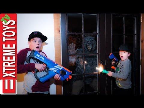 Night Of The Werewolf! Sneak Attack Squad Halloween Beast Nerf Battle! Part 3