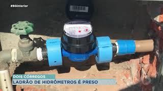 Homem é detido após furtar hidrômetros em Dois Córregos