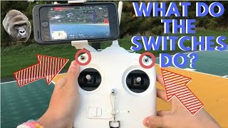 If you're ever wondering what the heck the switches on your DJI Phantom 3 controller do then this video is definitely for you.