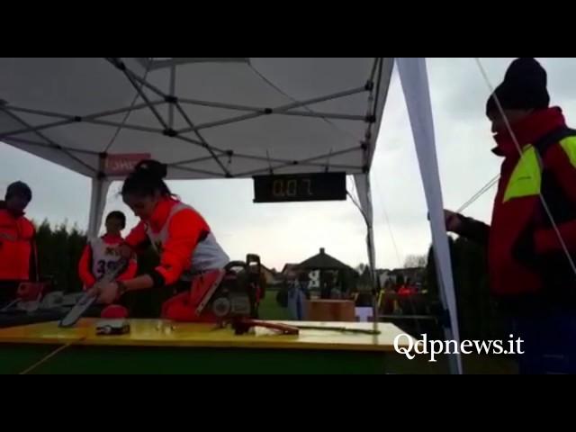 Olimpiadi forestali - Stefania Geronazzo nella prova di cambio catena