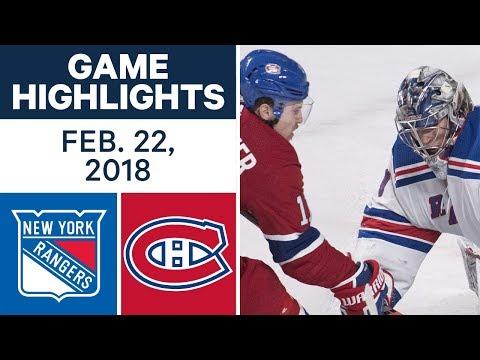 Video: NHL Game Highlights | Rangers vs. Canadiens - Feb. 22, 2018