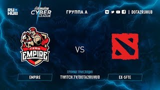 Empire vs ex-SFTE, Adrenaline Cyber League, game 1 [Maelstorm, LightOfHeaven]
