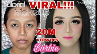 Video Tutorial makeup BARBIE | makeup kekinian | RindyNellaKrisna MP3, 3GP, MP4, WEBM, AVI, FLV November 2018