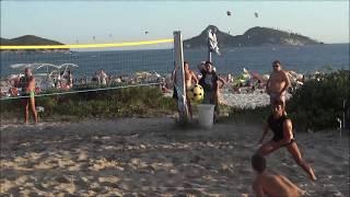 """Romário, Felipe e outros no point do futevolei - praia do Pepê - Barra - Rio de Janeiro Music: """"Brasilian Reggae"""" by Juanitos..."""