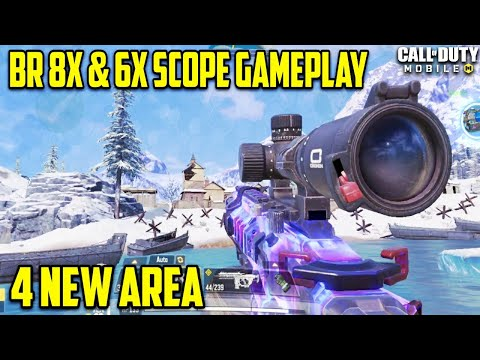 Battle Royale 8x & 6x Scope Gameplay Season 9 Cod Mobile | Cod Mobile Season 9 Four New Areas