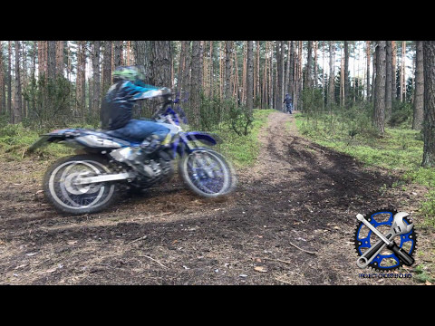 Yamaha DT 125 vs Husqvarna WRE 125 exhaust in forest